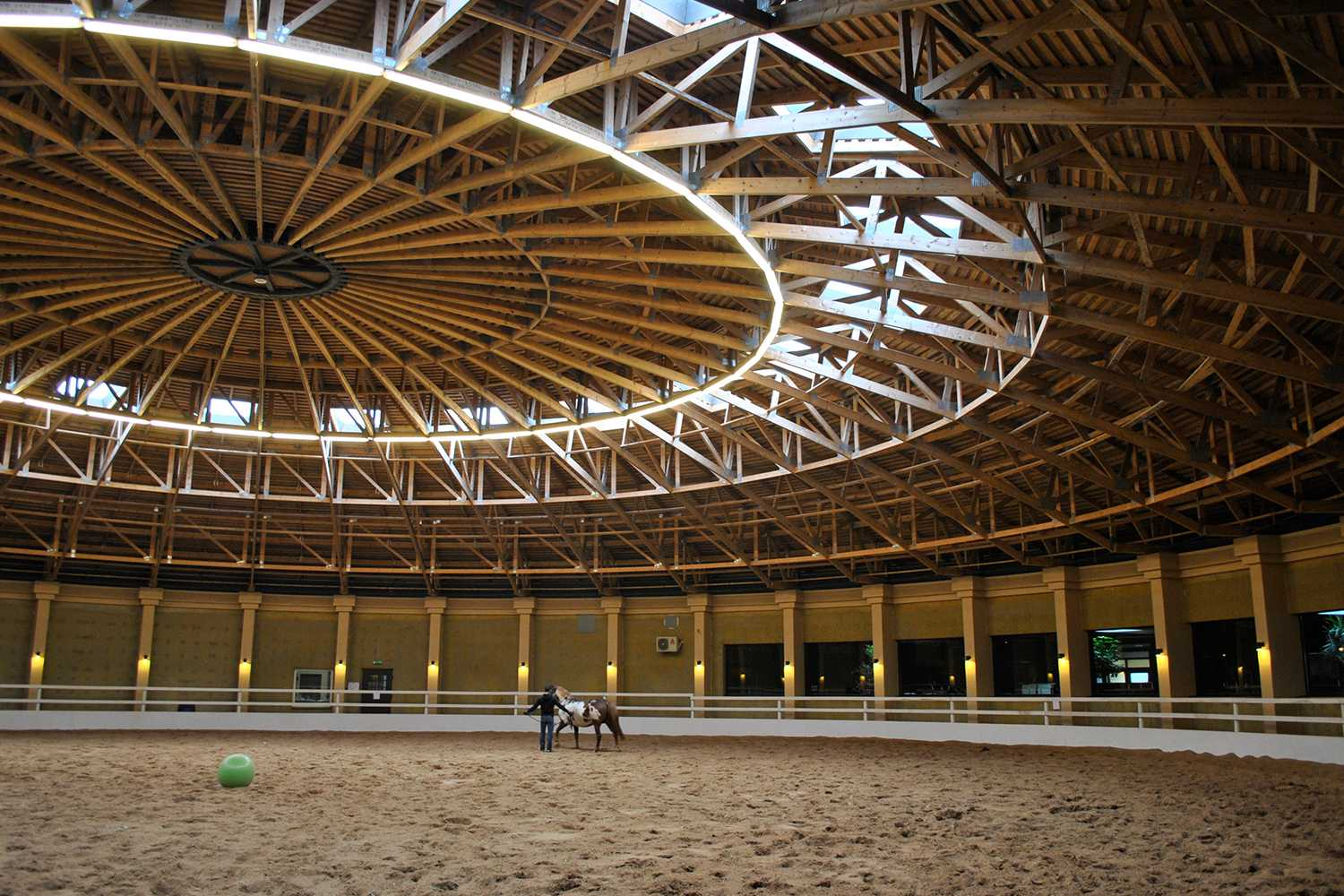 timber trusses for large horse arena