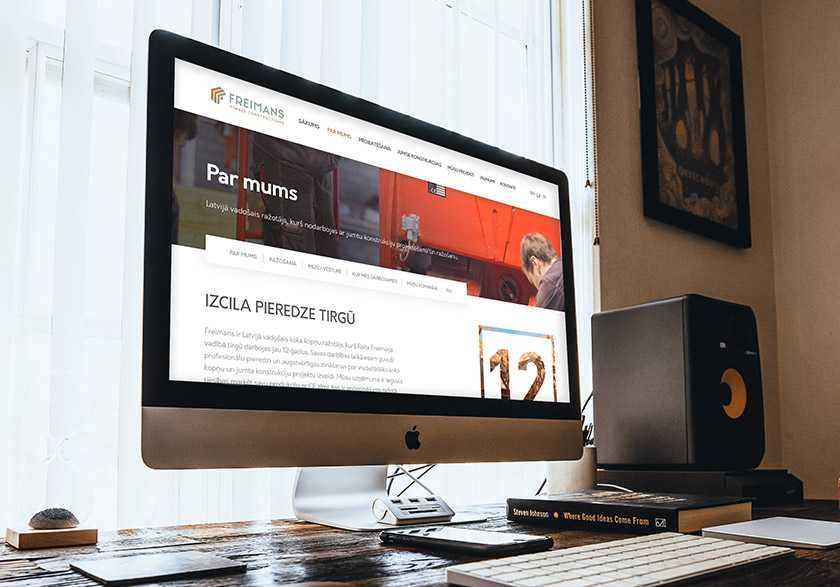 Freimans nostiprina identitāti ar jaunu mājaslapu