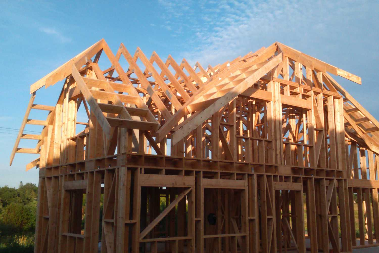 Timber trusses for private house in estonia