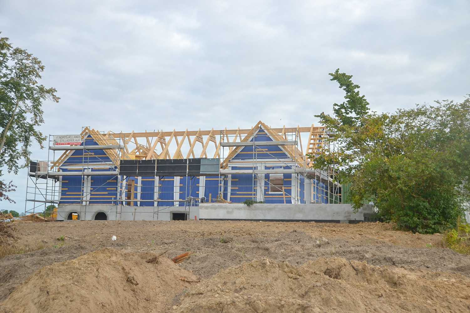 Timberr trusses for private house in denmark
