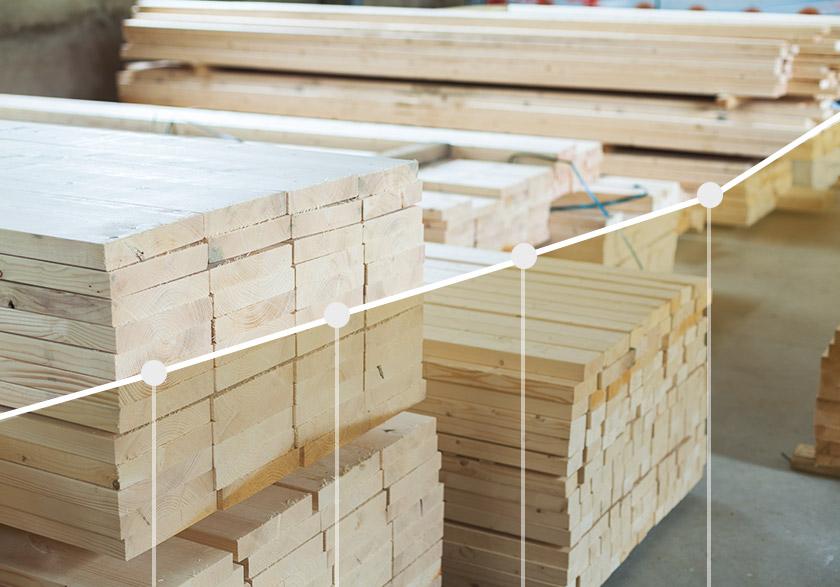 Comment le prix du bois affecte t il le coût des fermes de toit