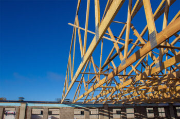 timber trusses for large farm building