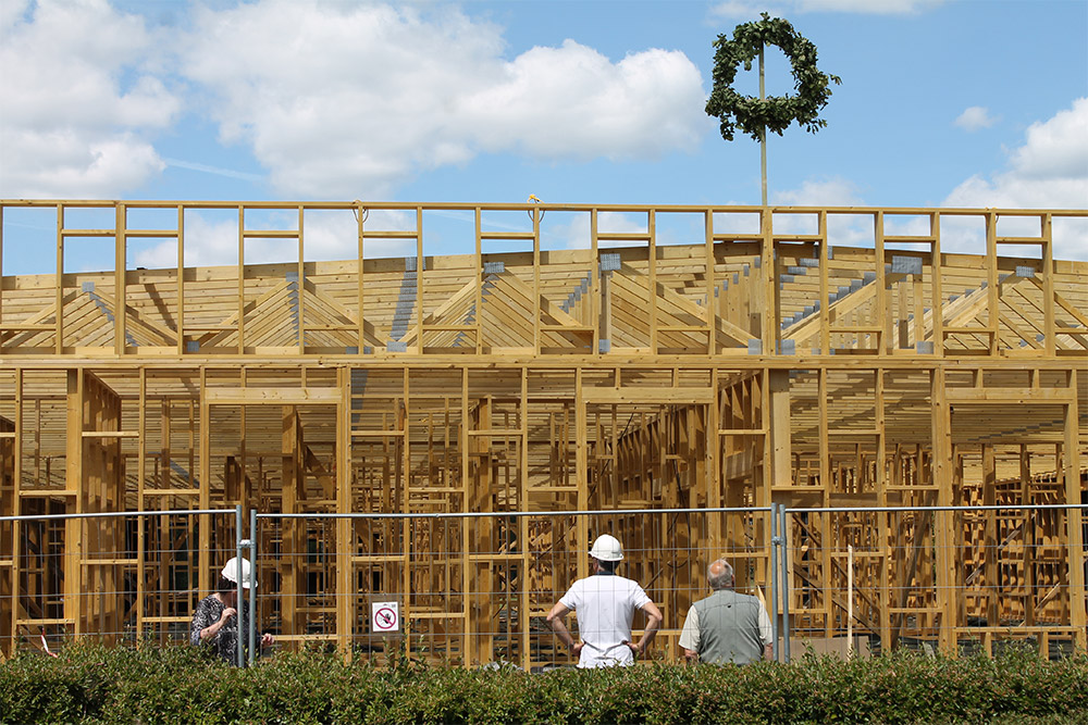 timber trusses for project in latvia for kindergarten