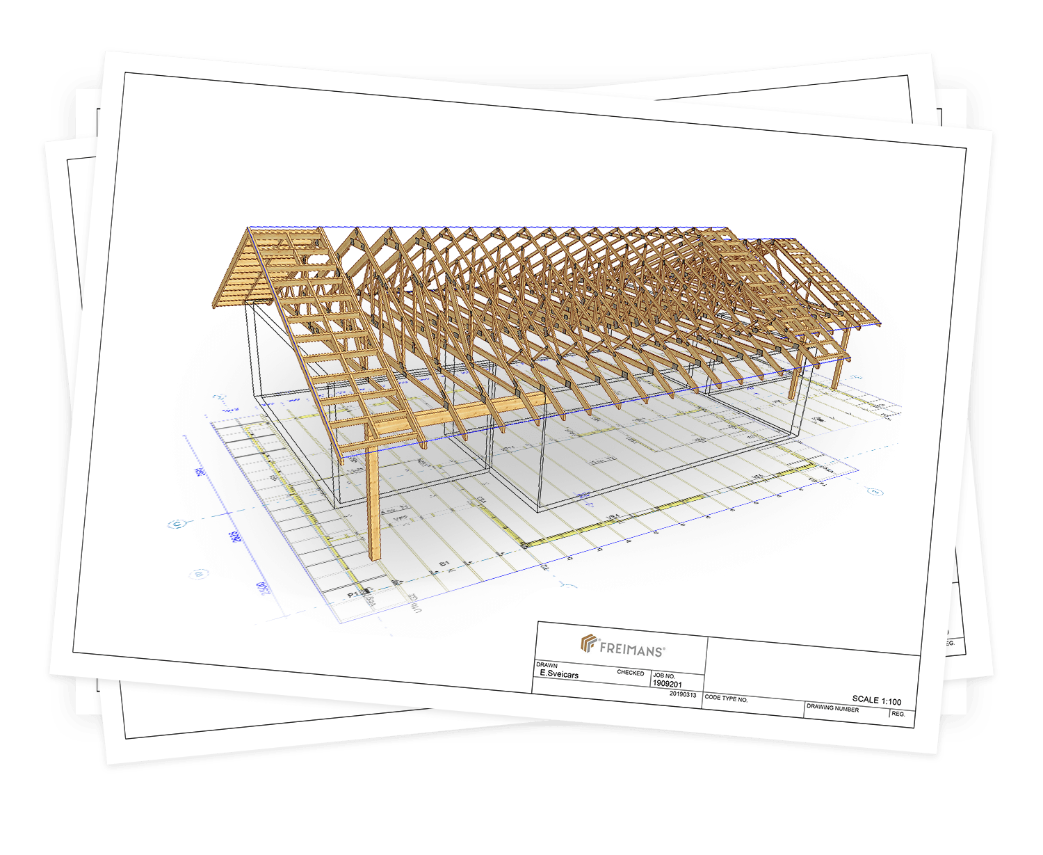 Timber trusses - Freimans