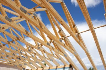 Timber trusses for private house and garage