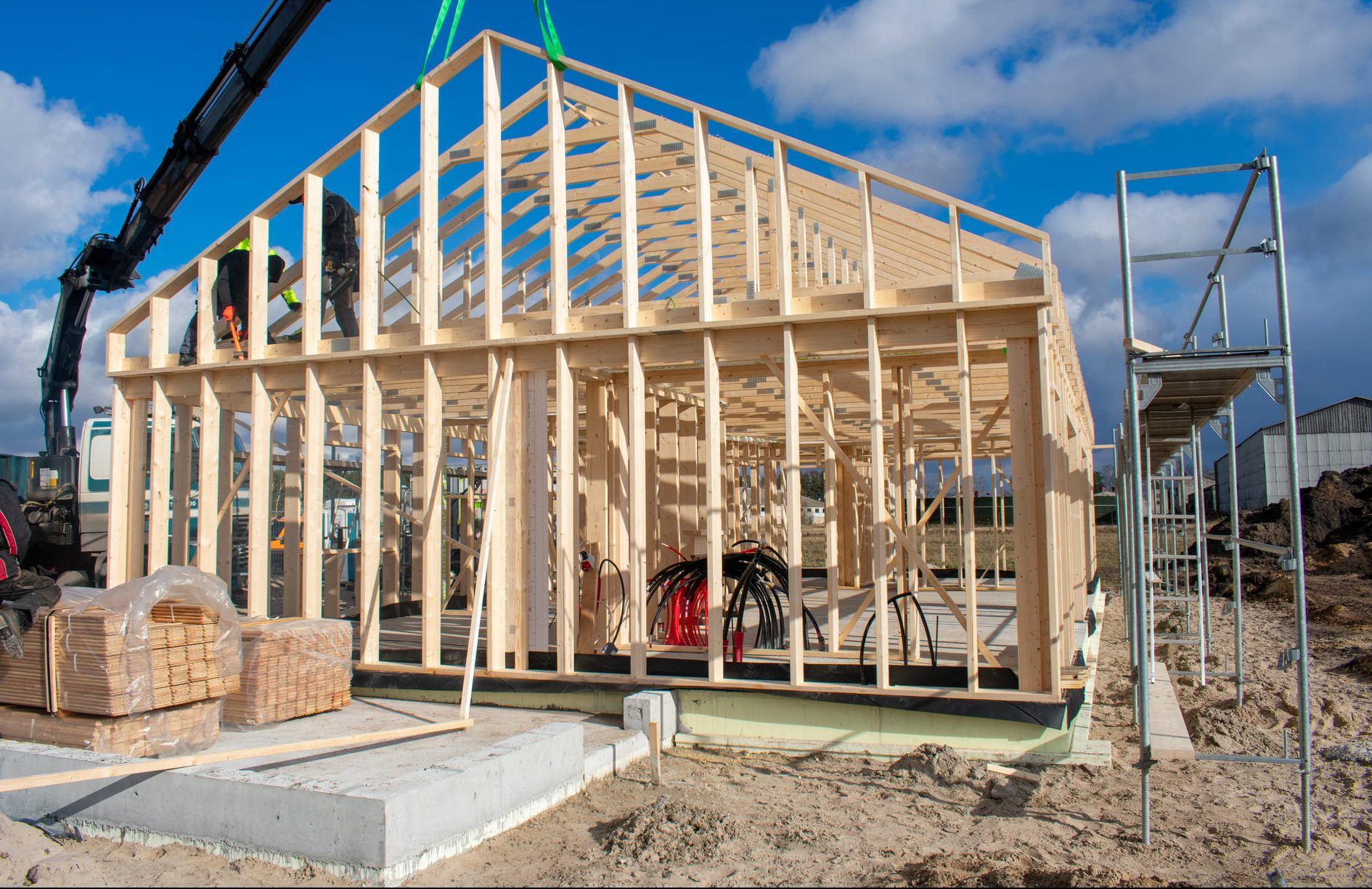 Energiškai efektyvus medinis karkasinis namas
