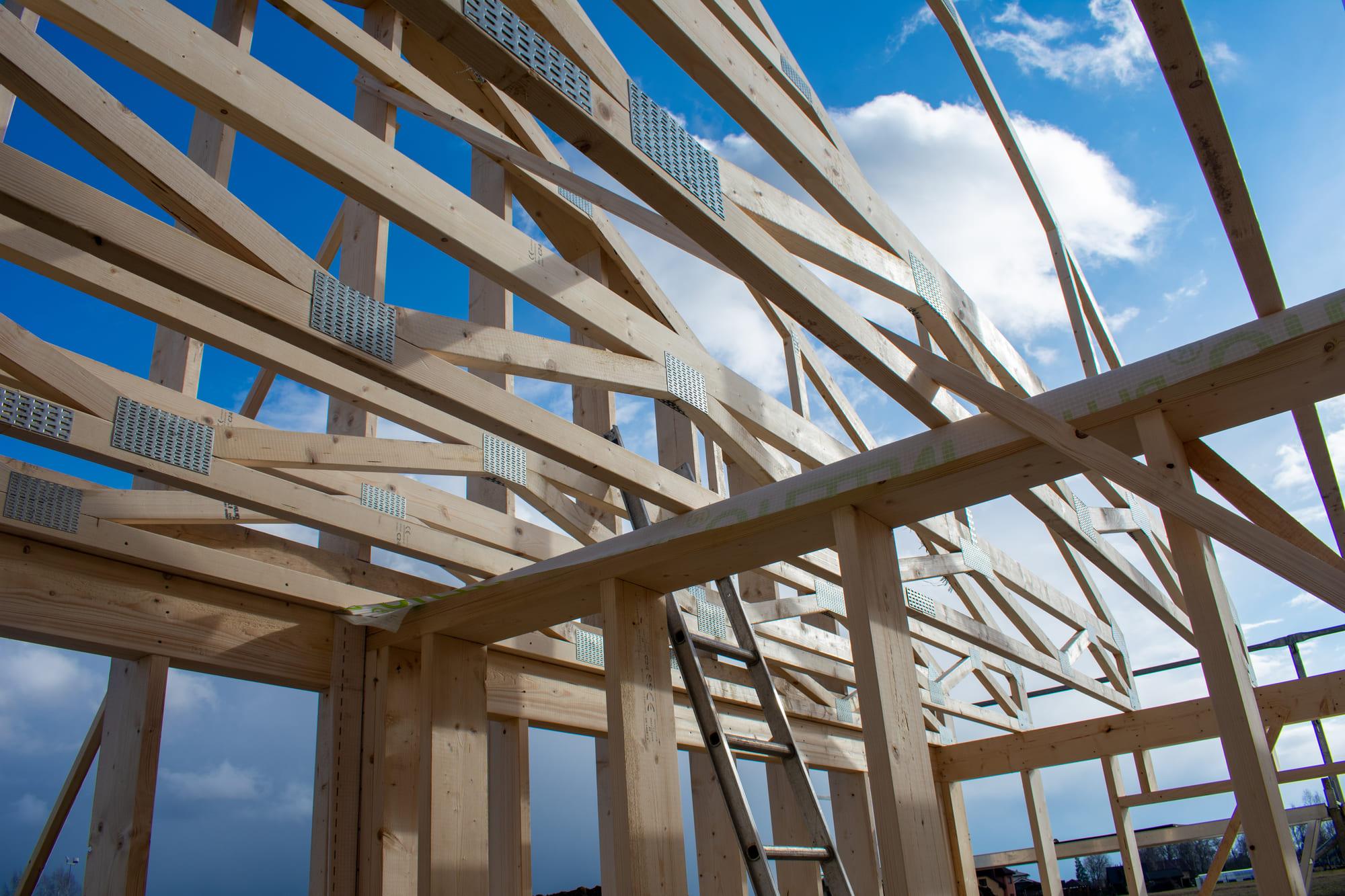 plancher étage fermes en bois intermédiaires