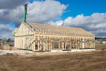 Fermes de toit pour une maison privée écoénergétique
