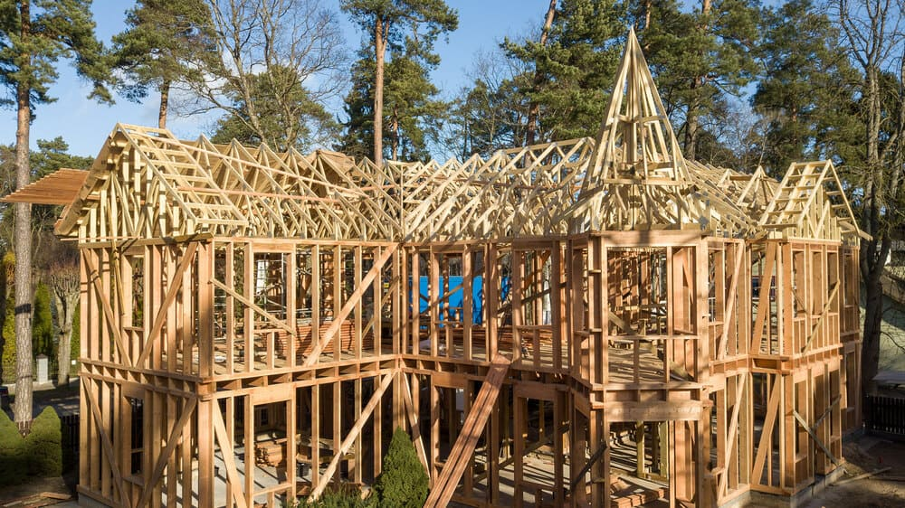 The shape of timber trusses and mounting options 1