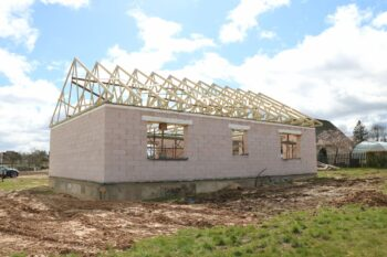 Timber trusses for small private house