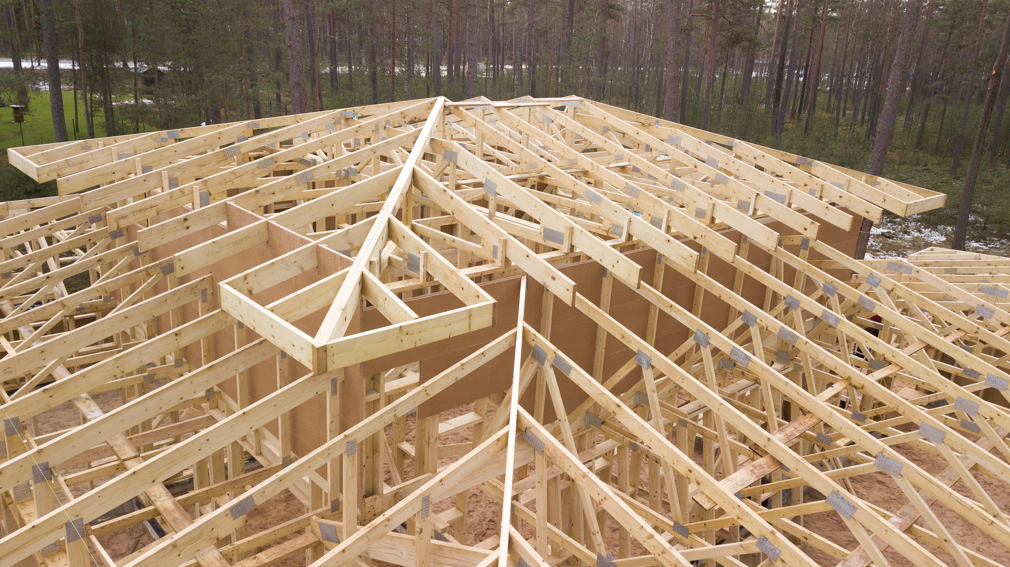 roof that will form from the trusses