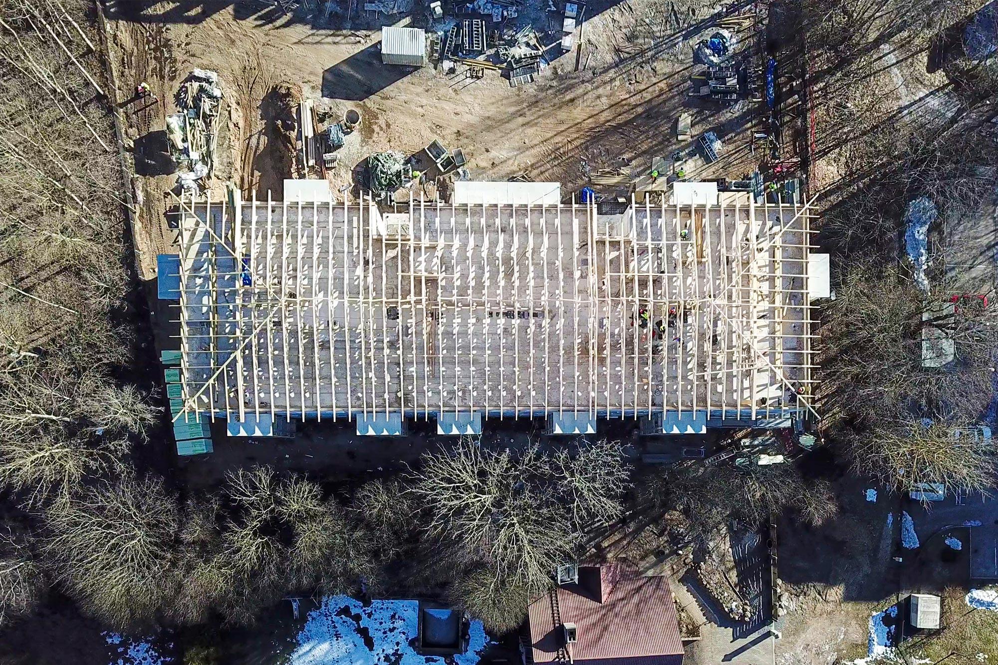 Jumta konstrukciju montāža