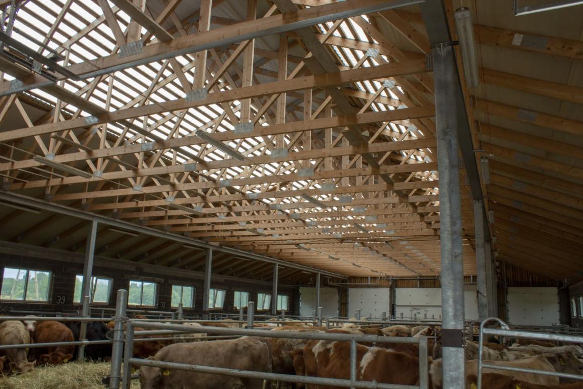 jumta konstrukcija lauksaimniecības projektam Latvijā