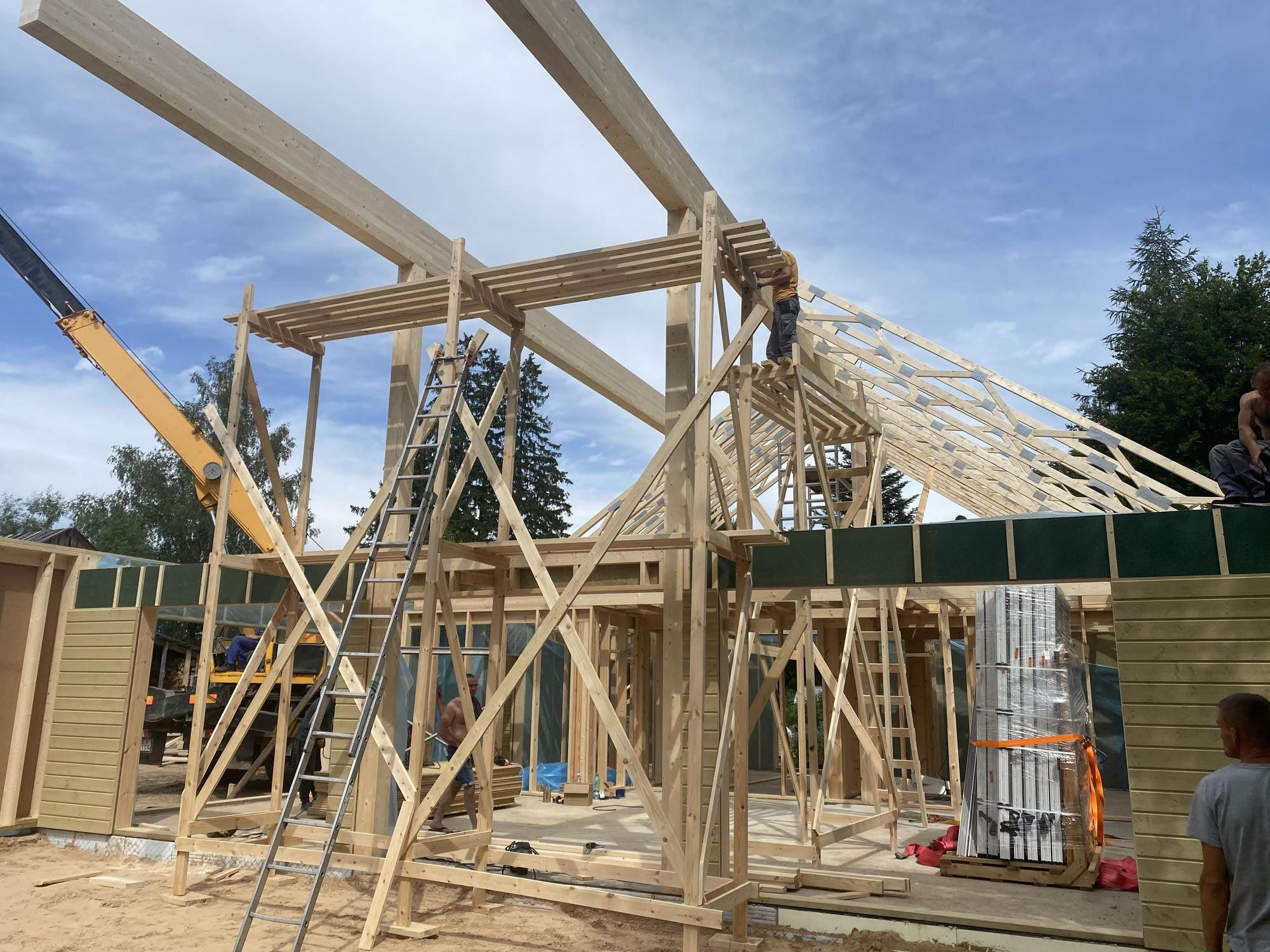 Eko modulis ražotās koka mājas izceļas ar augstu energoefektivitātes klasi